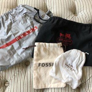 Assorted designer dust bags 4